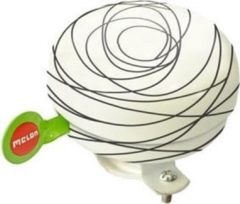 Melon bel Scribble 60mm zwart/wit