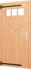 Trendhout | Opgeklampte deur met bovenraam | Rechtsdraaiend | Onbehandeld