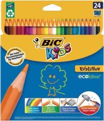 Kleurpotlood Bic kids ecolutions evolution 24 potloden in kartonnen doos