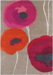 Sanderson - Laagpolig vloerkleed Sanderson Poppies Red Orange 45700 - 200x280 cm