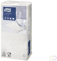 Servetten Tork 477534 Cocktail 2laags 24x24cm wit 200st.