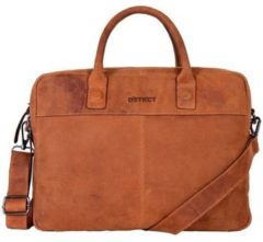 Bruine Laptoptas Dstrct Wall Street Business Laptop Bag 13-15 inch