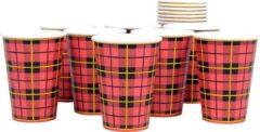 Rode PasschierTerpo 100 stuks - papieren drinkbeker - scotty - 180cc