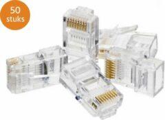 Transparante Qost® 50x RJ45 CAT 6 Connector Stekker Plug Voor Internet/Netwerk Kabel