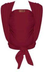 Rode ByKay Woven Wrap Deluxe draagdoek maat 6 berry red