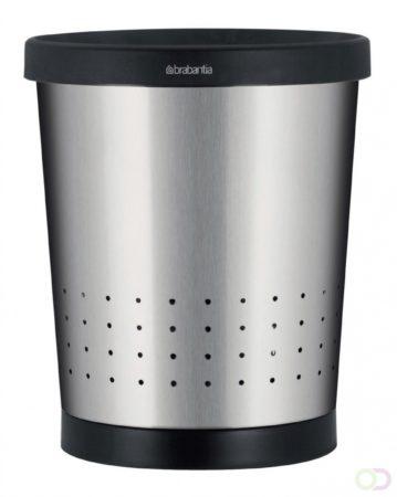 Afbeelding van Zilveren Brabantia Conische Prullenbak 11 L - Matt Steel