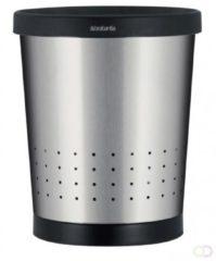 Zilveren Brabantia Conische Prullenbak 11 L - Matt Steel