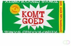 """PTMD Tony's Chocolonely Melk Hazelnoot - Zeg 't met een reep """"Komt goed""""- Chocoladereep - 180 gram"""