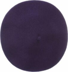 The English Hatter Unisex Baret Paars Wol Maat: One size