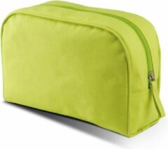 Toilettas/make-up etui - grote lime groene etui 28 cm - Makeuptassen/Toilettassen - Make-up opbergen - Reis etui - Schooletui
