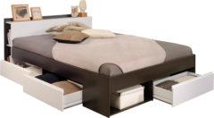 Bruine Parisot - Bed Most - koffie - 140x190/200 cm