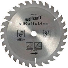 Wolfcraft 6736000 Hardmetaal-cirkelzaagblad 190 x 30 mm Aantal tanden: 30 1 stuk(s)