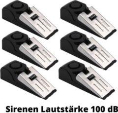6 Stück OLYMPIA T 300 Alarm-Türstopper rmit Erschütterungssensor, 100 dB