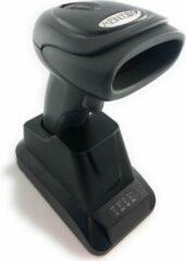 Zwarte AFINTEK Draadloze Barcodesscanner 1D barcodes met oplaadstation/Houder | 2.4Ghz