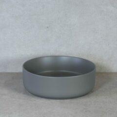 Licht-grijze QeramiQ Note opbouw waskom 37x12cm keramisch lichtgrijs mat 10401055