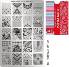 Moyra Nail Art Stamping Plate 65 - Perfect Match