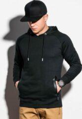 Zwarte Ombre Heren hoodie effen b1080-1