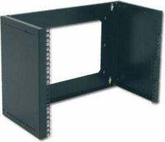 Zwarte Digitus DN-19 PB-4U-SW Flush-mount patch bracket (W x H x D) 505 x 195 x 250 mm 4 U Black (RAL 9005)
