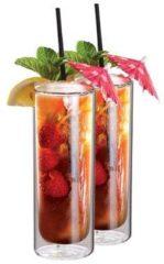 Transparante Cocktailglazen voor Mojito Dubbelwandig, set van 2 - Maxxo