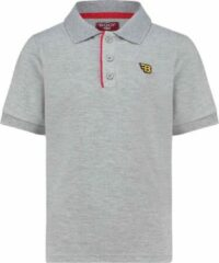 Grijze BOOF Poloshirt |Polo jongens | Polo meisjes | Unisex T-shirt | Vakantie kleding zwembad |spellen lego playstation |Maat 981/04