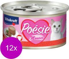 Vitakraft Poésie Mousse - Kattenvoer - 12 x 85 g