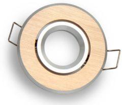 Groenovatie LED line Inbouwspot - Rond - Kantelbaar - MR11 Fitting - Ø 70 mm - Geborsteld Goud