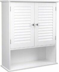 MIRA Home Medicijnkastje – Hangkastje – Modern – MDF – Wit - 60x20x70