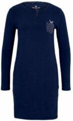 Blauwe TOM TAILOR Nachthemd met borstzak, dark blue uni, 44