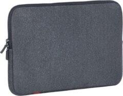 Grijze Riva Case Rivacase Antishock Laptop Sleeve 13.3 inch Dark Grey