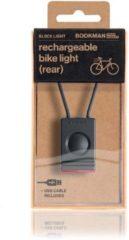 Bookman Block Fietsverlichting - LED Achterlicht - Oplaadbaar via USB - Compact Design - Zwart