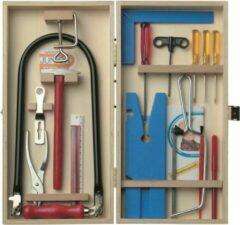 Merkloos / Sans marque Figuurzaag set in houten kistje voor kinderen - Hobby/knutselbenodigdheden - Gereedschappen voor figuurzagen - Leren zagen