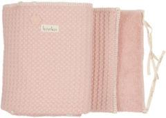 Roze Koeka - Box/Bedomrander - Boxbumper Wafel Amsterdam - 180x30 - Shadow Pink