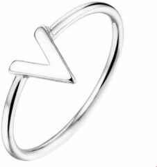The Fashion Jewelry Collection Ring V - Zilver