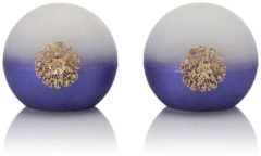 Flambiance LED-Kugel-Kerzen mit Ornamenten, 2tlg.