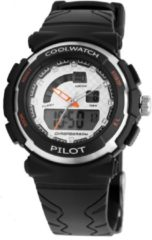 Coolwatch by Prisma CW.270 Kinderhorloge Pilot Digitaal/Analoog kunststof/siliconen zwart 36 mm