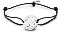 Zilveren Key Moments 8KM-A00023 - Armband met stalen letter W en sleutel - one-size - zilverkleurig