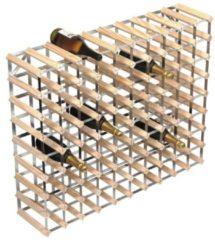 Bruine RTA Wijnrek van hout 90 flessen