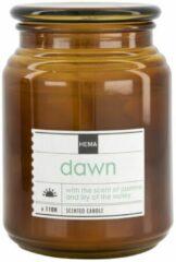 HEMA Geurkaars In Glazen Pot Ø10x14 Dawn (bruin)