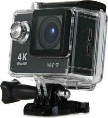 Zwarte Merkloos / Sans marque WiFi Sport Actie Camera H9   Action Camera   4K Ultra HD   2 Inch LCD   HDMI   Inclusief Waterdichte Beschermhoes