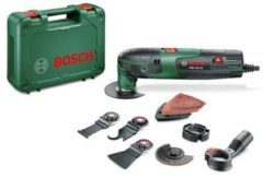Bosch Home and Garden PMF 220 CE Set 0603102001 Multifunctioneel gereedschap Incl. accessoires, Incl. koffer 16-delig 220 W