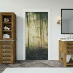 Groene Wallstation Deursticker Bossen 16 - 100 x 250 cm - Gratis installatie-kit - Snelle levering