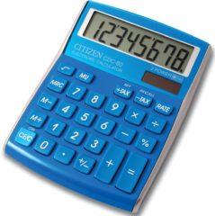 Bureaurekenmachine Citizen Office CDC 80 Lichtblauw Aantal displayposities: 8 werkt op zonne-energie, werkt op batterijen (b x h x d) 108 x 24 x 135 mm