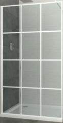 Inloopdouche Allibert Loft-Game Walk-In 140x200 cm 8mm Industrieel Wit Raster (incl. stabilisatiestang)