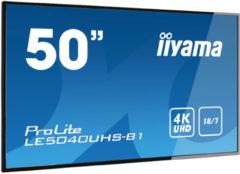 Iiyama LE5040UHS-B1 beeldkrant 127 cm (50 ) LED 4K Ultra HD Digital signage flat panel Zwart