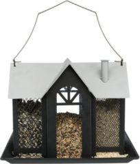 Trixie voederhuis villa metaal zwart 26x19x19 cm