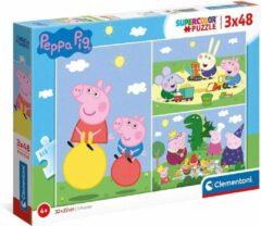 Clementoni Legpuzzels Peppa Pig 48 Stukjes Karton 3 Stuks