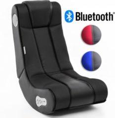 Wohnling ® Soundchair InGamer in Schwarz mit Bluetooth Musiksessel mit eingebauten Lautsprechern Multimediasessel für Gamer 2.1 Soundsystem - Subwo