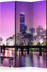 Paarse Kamerscherm - Scheidingswand - Vouwscherm - Purple Melbourne [Room Dividers] 135x172 - Artgeist Vouwscherm