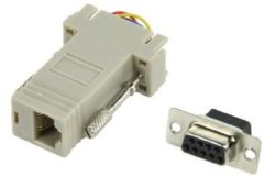 Grijze Valueline CMP-ADAPT-9F D-Sub 9-pin (F) RJ45 (F) Grijs kabeladapter/verloopstukje