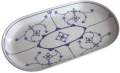 Platte, oval Blau Saks Kahla Weiß